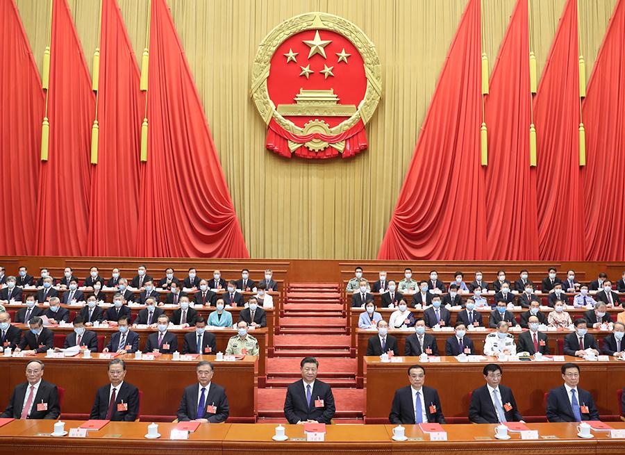 习近平出席十三届全国人大三次会议闭幕会